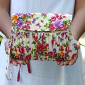 colorful flower clutch