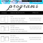 program pricing