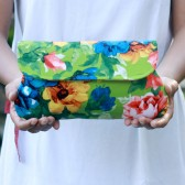 Floral Clutch in green