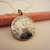 To My Maid of Honor vintage sterling silver pendant necklace