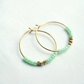 Mint Bridesmaid Earrings