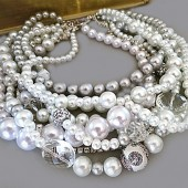 Pearl Chunky Statement Necklace