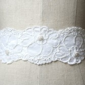 White Wedding Lace Sash