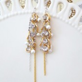 Bridal Chandelier Earrings - Long Wedding Earrings