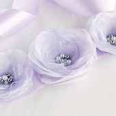 Lilac Wedding Gown Sash, Flower Bridal Sash, Prom Sash