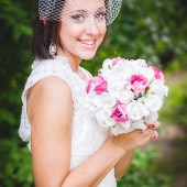 Birdcage Wedding Veil White with Swarovski Crystals