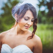 Birdcage Wedding Veil White