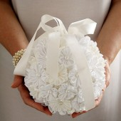 Kanzashi flower pomander, Bridal bouquet, Kissing ball, Flower girl pomander