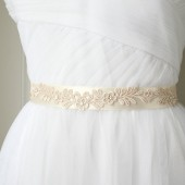Floral Ivory Lace Sash