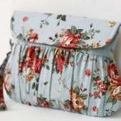 Shabby Chic blue clutch