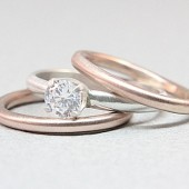 Rose & White Gold Wedding Set