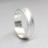 Sterling Silver Milgrain Band