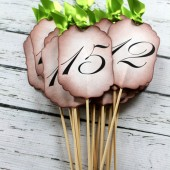 Vintage Inspired Table Number Skewers
