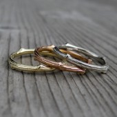 Stackable Twig Bands, Set of Three