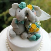 Elephant cake topper, wedding cake topper, custom cake topper, Etsy wedding, bride groom figurines, animal cake topper