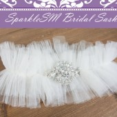 SparkleSM Bridal Sashes - Bridal Garter - Everly
