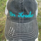 Personalized Distressed Hat
