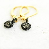 Lucky Seven Minimaist Raw Diamond Earrings