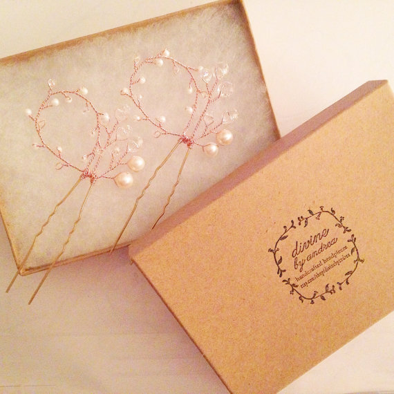 Addy Hair Pins Rose Gold