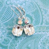 Clear Vintage Jewel Earrings
