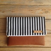 Black and White Stripped Clutch