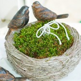 Moss Filled Ring Bearer Bird Feeder Nest - Rustic Wedding Alternative Ring Bearer Pillow