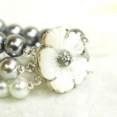 Mother of Pearl Triple Strand Bracelet