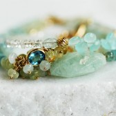 Aquamarine Triple Stacking Bracelets
