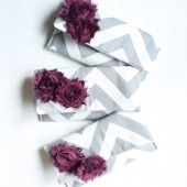 Plum and Gray Chevron Clutches