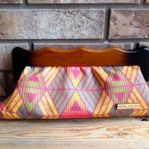Colorful Wooden Framed Clutch