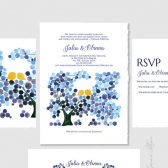 Wedding Invitation set Printable invites suite - DIY KIT Save the Date Wedding Invitations Thank You Cards - watercolor invites by Elena