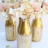 Gold Milk Bottles