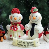 Christmas cake topper, winter cake topper, winter wedding, winter wonderland wedding, custom cake topper, snowmen cake topper, cake topper wit dog, pet cake topper, dog cake topper