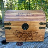 Our love story personalized wedding card chest