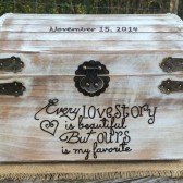 Distressed Love Story Card Chest