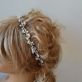 Bridal Headband, Rhinestone and Pearl Tiara