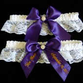Regal Purple Bridal Garter Set
