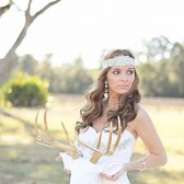 Rhinestone and Pearl lace Boho Headpiece