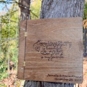 Rustic Wooden Guestbook