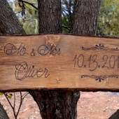 Rustic Tree Slice Engraved Sign
