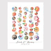 Apple Guest Book Print Birthday Gift - One Apple a Day Baby shower guest book sign art print from painting - APPLES
