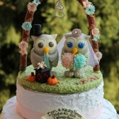 owl cake topper, wedding cake topper, custom cake topper, bird cake topper, love birds, custom cake topper, floral arch wedding, animal cake topper, bride and groom cake topper, etsy cake topper, hand made cake topper