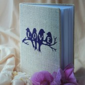 Wedding Guest Book, Rustic Wedding, Custom Guest Book, Guestbook Love birds