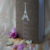 Wedding guest book White eiffel tower Paris, Je T'Aime