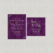 Purple marbled Save the Date