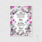 Wedding Invitation Signage Design - DIY Printable Custom Wedding Menu Sign