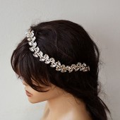 Marriage Bridal Headband, Rhinestone Headband