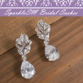 Wedding Bridal Earrings, Crystal Silver Bridal Earrings, Statement Earrings, SparkleSM Bridal, Avery
