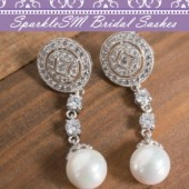 Chandelier Statement Bridal Earrings, Pearl Bridal Earrings, SparkleSM, Emerson