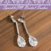 Drop Bridal Earrings, Chandelier Bridal Earrings, Crystal Wedding Earrings, SparkleSM Bridal, Gwen